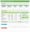 Ready to use Excel Dashboard Templates from Chandoo.org example 4