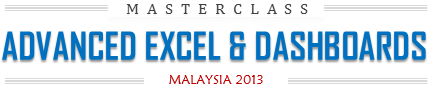 Advanced Excel & Dashboards Training from Chandoo.org in Malaysia - September, October 2013